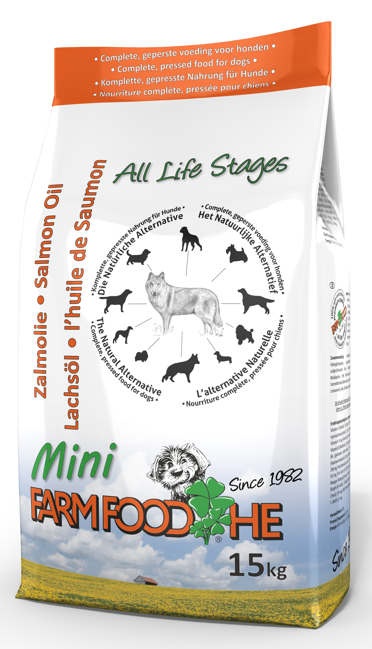 Afbeelding voor product Farm Food H.E. Zalmolie Puppy&Mini